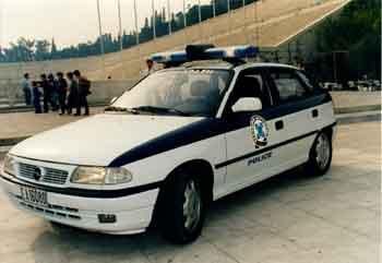 Greek Police Car