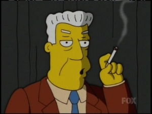 Kent Brockman Smoking