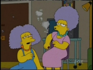 Patty And Selma Smoking