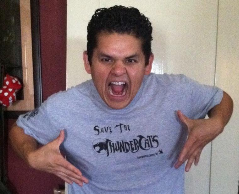 Aris Alvarado in a Save The Thundercats T-shirt