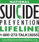 1-800-273-TALK (8255) National Suicide Prevention Hotline