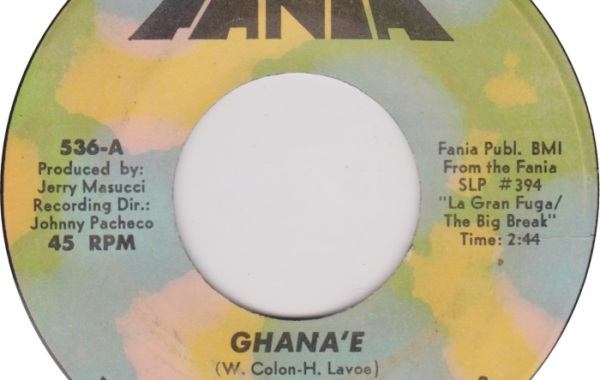 Ghane'e Fania 45 RPM label