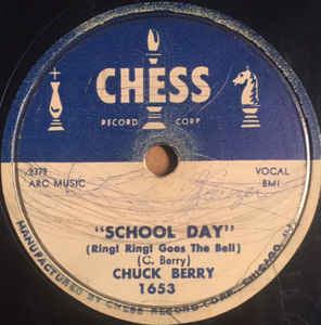 School Days by Chuck Berry label