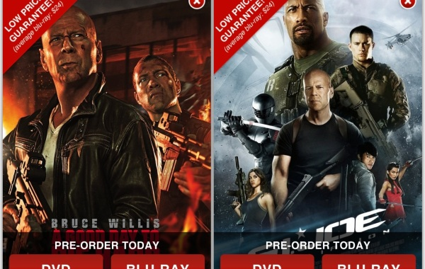 MoviePass DVD/BluRay splash page offer examples