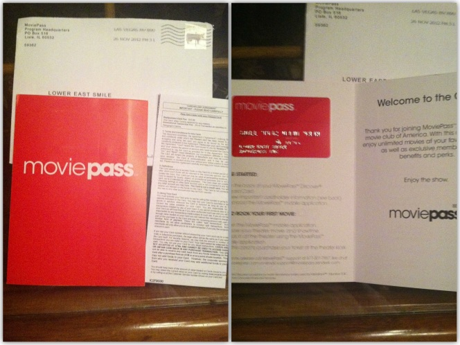 My MoviePass Membership Package, as it was when I got it