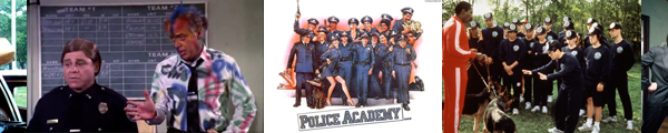 Police Academy film series bannger