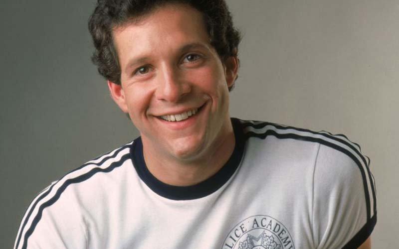 Steve Guttenberg in a Police Academy T-shirt