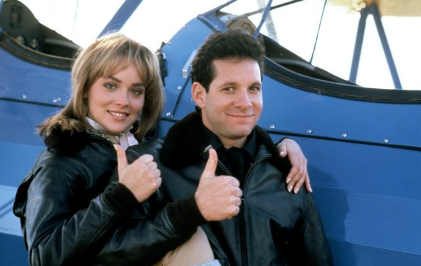 Sharon Stone and Steve Guttenberg in Police Academy 4: Citizens on Patrol